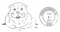 Groundhog Day postmark